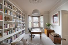 Creative Designs For Living Rooms  - The living room might be the most important part in the house, because this is where the families gather, spend most of their times and do most of the... -  library-dominated-room3 .