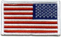American US Flag REVERSED Patch White Border  Misc.  by Army Universe 246559fb345