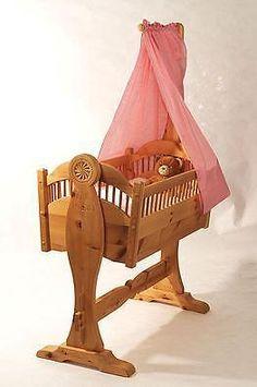 Exquisite European Handcrafted Baby Cradle - Made in Austria.-Exquisite European Handcrafted Baby Cradle – Made in Austria Baby Cradle Plans, Baby Cradle Wooden, Woodworking Basics, Woodworking Crafts, Woodworking Classes, Woodworking Videos, Teds Woodworking, Baby Bassinet, Baby Cribs