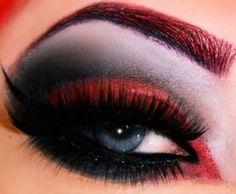 Dark sensuous eye work