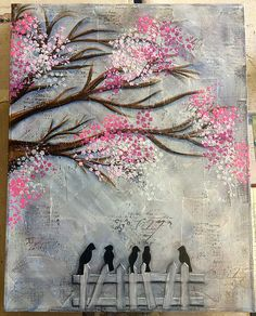 Mixed media canvas in a class with Michelle Webb @ Art From The Heart | Flickr - Photo Sharing!