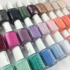 Which color are you in the mood for? Line up for the essie nail polish collection. Candy Hair, Nail Candy, Pretty Nail Colors, Pretty Nails, Fabulous Nails, Gorgeous Nails, How To Do Nails, Fun Nails, Essie Nail Polish
