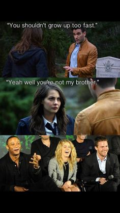 Arrow. I miss Tommy... I really want to know what it would have been like for Thea to have two brothers! Bring him back Arrow writers.