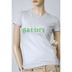 Battery Floral Crew Neck S/S Womens T Shirt Gray S