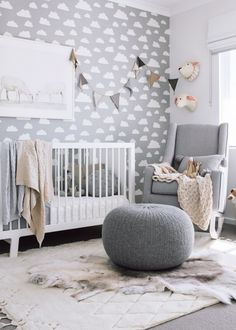 Find out how to decorate a gender neutral nursery. Also included in the post is a modern gender neutral nursery design board.