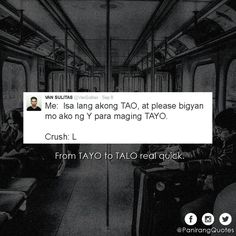 Filipino Humor, Filipino Quotes, Tagalog Love Quotes, Qoutes, Asian Jokes, Hugot Quotes, Savage Af, Hugot Lines, Relatable Tweets