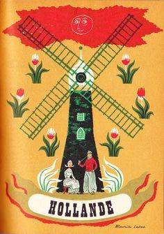 Vintage Holland travel poster