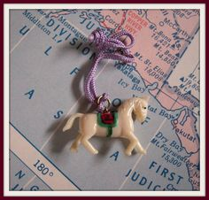 Vintage Horse 2 Celluloid Cracker Jack Charm by MDHcrafts on Etsy, $5.00
