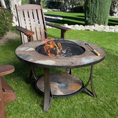 Arizona Sands II Round Fire Pit Table - Fire Pits at Hayneedle