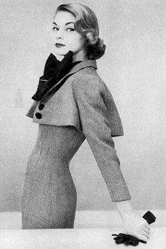 Jean Patchett - Beautiful silhouette; I really like the short jacket <3