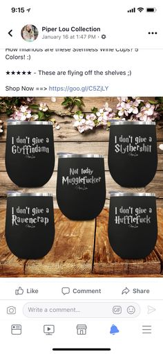 Wine Tumbler Double Walled Vacuum Insulated Tumblers Wine Tumbler For Women Harry Potter Wine Glasses, Vinyl Tumblers, Pinot Gris, Harry Potter Wedding, Wine Reviews, Insulated Tumblers, Sauvignon Blanc, Tumbler Cups, Homemade Gifts