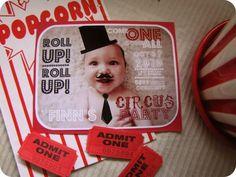 Invitaciones para Fiestas Circo