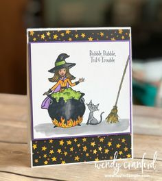 Fall crafts Stampin Up - Bubble, Bubble, Toil & Trouble Halloween Scrapbook, Halloween Cards, Holidays Halloween, Halloween Themes, Halloween 2018, Halloween Celebration, Fall Cards, Holiday Cards, Christmas Cards