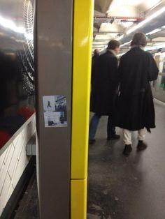 Stickers @ Metro Paris Project #01