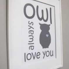 would be so cute in a baby's room since we have the same saying in our room :)