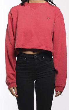 Vintage Tommy Hilfiger Crop Sweatshirt