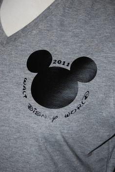 Custom Shirts for 2013 Disney Trip