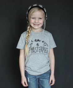 Heather Gray 'Masterpiece' Tee - Infant, Toddler & Kids