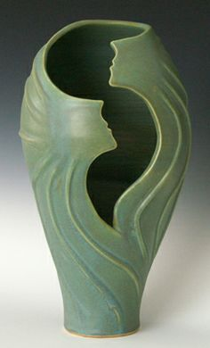 """""""Swirling Sprites"""" ©2013 Judith Lerner Taylor: """"I strive to infuse movement into all my ceramic pieces, so that my pottery instills in others the sense of joy, exhilaration, and lightness of dancing."""""""