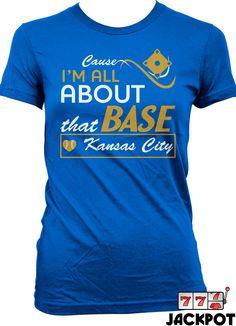 Women's Medium. Kansas City Baseball T Shirt Cause I'm All About by JackPotTees