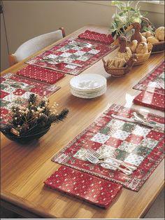 Sewing - Holiday & Seasonal Patterns - Christmas Patterns - Christmas Place Setting