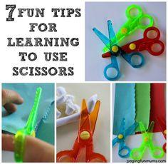 Tips para aprender a usar las tijeras