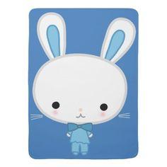 Cute Blue Kawaii Bunny