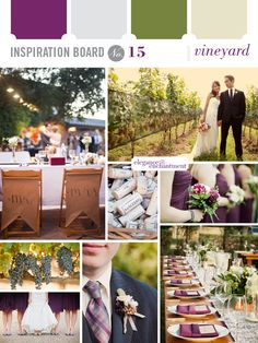 Vineyard Wedding Decorations | Inspiration Board #15: Vineyard | Elegance & Enchantment