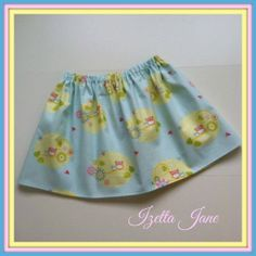 Spring Owl Twirl Skirt  3T 4T or 5T  Ready to ship by IzettaJane, $14.00