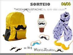 Sorteio no blog Maria Zouzou. 'Moda Moustache'. Participem!  http://mariazouzou.com.br/sorteio-moda-moustache/