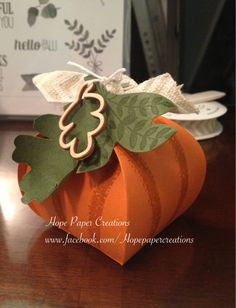 My Stampin' Up! Pumpkin  Come check out my facebook page at www.facebook.com/Hopepapercreations Here is my take on a pumpkin for the upcoming fall season!  Thinking of having a class on it and maybe even a mail class for those who don't live close.