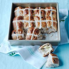 Hot Cross Buns | Williams-Sonoma ... Traditionally associated with Good Friday and Easter, lightly sweet hot cross buns are a delicious teatime treat any time of year. If you don't own a pastry bag, you can put the icing in a small sealable plastic bag and snip off the corner