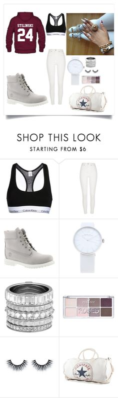 """""""Streets"""" by evigr ❤ liked on Polyvore featuring Calvin Klein Underwear, River Island, Timberland, Marc by Marc Jacobs, Henri Bendel, Converse, women's clothing, women, female and woman"""