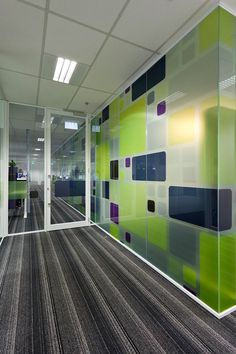 Sigma Pharmaceuticals Environmental Graphics by Matty Ryan Melbourne Australia Corporate Office Design, Office Interior Design, Office Interiors, Environmental Graphics, Environmental Design, Window Design, Wall Design, Wall Treatments, Ideas