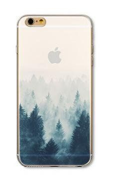 nice Apple iphone six Scenario, DECO FAIRY® TPU Clear Apparent Scenario Bumper[Scratch-Resistant] [Fantastic Suit] Extremely Slender Translucent Silicone Apparent Scenario Gel Go over for Apple Apple iphone six / 6S (Trees in Snowy Wintertime)