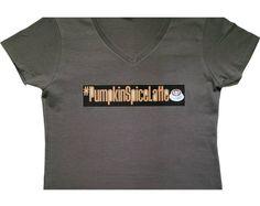 Fall Inspired Pumpkin Spice Latte V-Neck T-Shirt