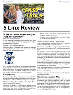 5linx http://blog.robfore.com/5linx Is 5linx really the 'premier business opportunity' they claim or is yet 'just another' network marketing opportunity high on hype but short on substance? Let's take a much closer look, shall we? Also, just to be fair – let me state right here and how that I am not a 5linx distributor… nor am I a customer… nor do I actually know any 5linx distributors personally. 5linx