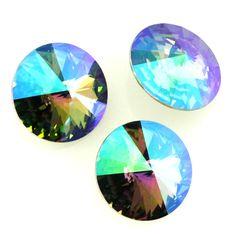 Eureka Crystal Beads - 1122 10mm (47ss) Rivoli CRYSTAL PARADISE SHINE Swarovski Crystal Stones (4 pcs), $2.85 (http://www.eurekacrystalbeads.com/1122-10mm-47ss-rivoli-crystal-paradise-shine-swarovski-crystal-stones-4/)