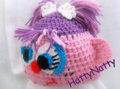 Crochet Hat Abby Cadabby Handmade Newborn -Child - 3 - 5 years