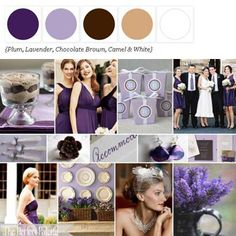 I didn't realize chocolate and tan look this good with purple! The Perfect Palette