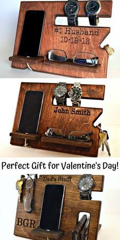 Valentines Gift for Boyfriend to Get in 2019 from Etsy. This creative and romantic present is perfect for men of all ages! This is perfect for the guy who has everything. Handmade mens gift nightstand organizer and wood docking station. Valentines Day Gifts For Him Boyfriends, Bday Gifts For Him, Surprise Gifts For Him, Diy Gifts For Boyfriend, Anniversary Gifts For Him, Gifts For Husband, Valentine Day Gifts, Gift For Man, Best Man Gift Ideas