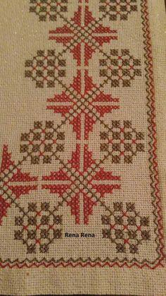Cute Cross Stitch, Cross Stitch Borders, Modern Cross Stitch Patterns, Cross Stitch Designs, Swedish Embroidery, Simple Embroidery, Cross Stitch Embroidery, Hand Embroidery Design Patterns, Chicken Scratch Embroidery