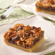 If you like pecan pie you'll love these pecan pie bars with chocolate! These are one of my family's favorites.