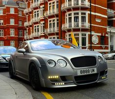 Matte Grey Hamann Imperator Bentley Continental GT. notice the benz to the left and to the right