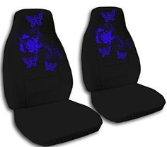 Amazon Two Black Seat Covers With Blue Butterflies For A 2012 Chevy Cruze Automotive