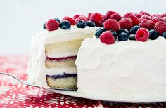 It's not too late to make this Red, White, and Blue Ice Cream #Cake - Labor Day is the perfect occasion!