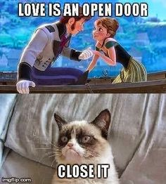 Monday Memes: Let It Go - My No-Guilt Life Lily Potter haha grumpy cat hates fro.,Funny, Funny Categories Fuunyy Monday Memes: Let It Go - My No-Guilt Life Lily Potter haha grumpy cat hates frozen!: Source by 9gag Funny, Funny Grumpy Cat Memes, Crazy Funny Memes, Really Funny Memes, Funny Relatable Memes, Haha Funny, Funny Cats, Grumpy Cats, Funny Stuff