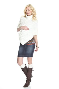 Cable Knit Maternity Poncho by Lilac | Maternity Clothes    Available at www.duematernity.com