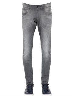 $87, G Star 17cm Revend Super Slim Denim Jeans. Sold by LUISAVIAROMA. Click for more info: https://lookastic.com/men/shop_items/395116/redirect
