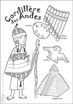 "iColor ""Little Kids Around The World"" ~ Andes School Coloring Pages, Colouring Pages, Coloring Pages For Kids, Adult Coloring, Coloring Books, Little Passports, Kids Around The World, Folk Art, Painting Art"